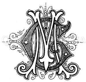 Monogramm MG Zeichnung/Illustration