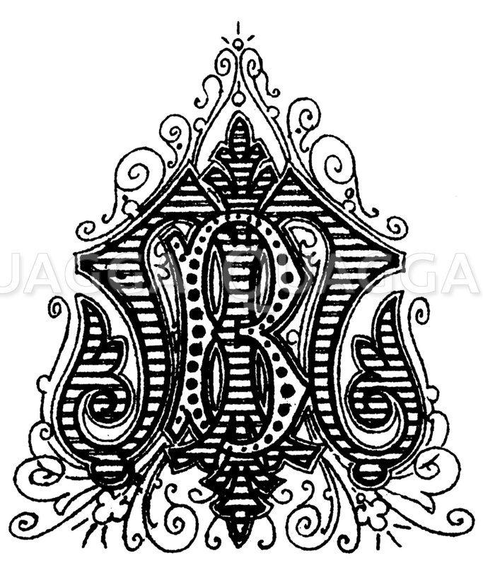 Monogramm BM Zeichnung/Illustration
