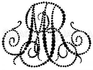 Monogramm MR Zeichnung/Illustration