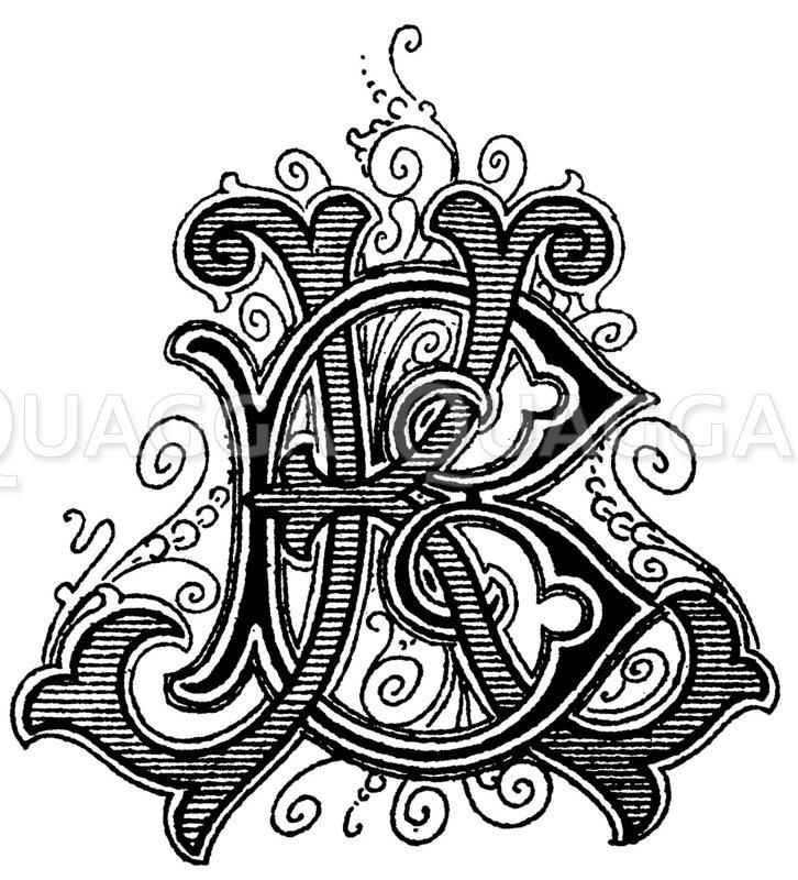 Monogramm BK Zeichnung/Illustration