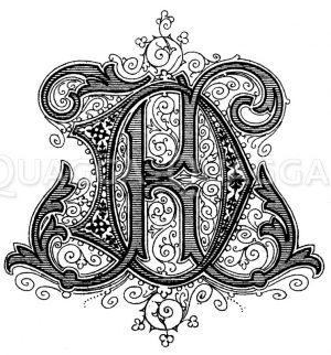 Monogramm KD Zeichnung/Illustration