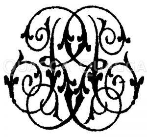 Monogramm RP Zeichnung/Illustration