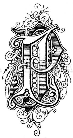 Monogramm JP Zeichnung/Illustration