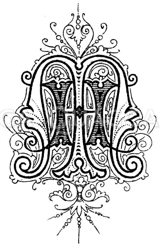 Monogramm HM Zeichnung/Illustration