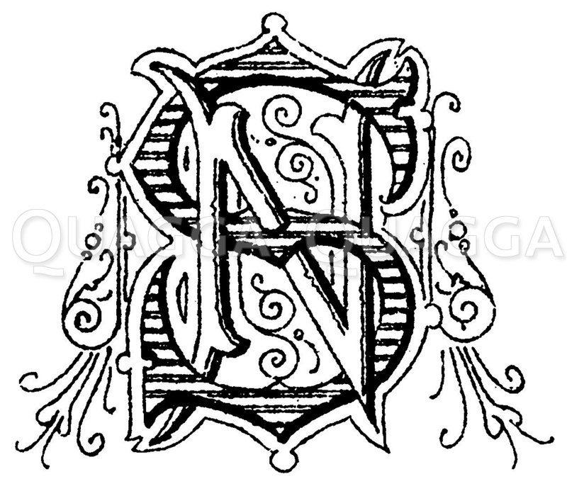 Monogramm HD Zeichnung/Illustration