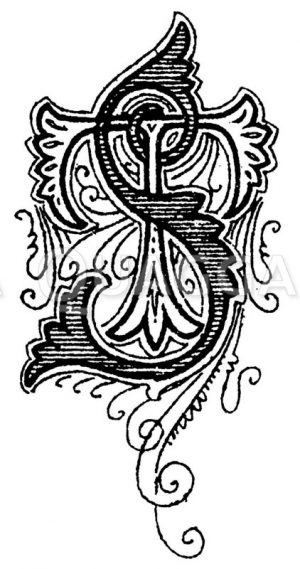 Monogramm TS Zeichnung/Illustration