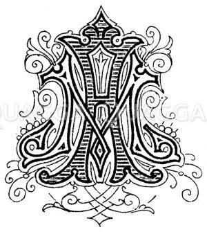 Monogramm MA Zeichnung/Illustration
