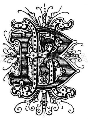 Monogramm KB Zeichnung/Illustration