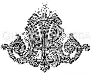 Monogramm RM Zeichnung/Illustration