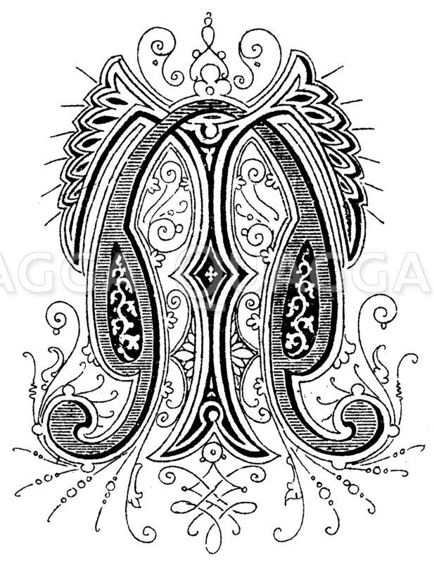 Monogramm TN Zeichnung/Illustration