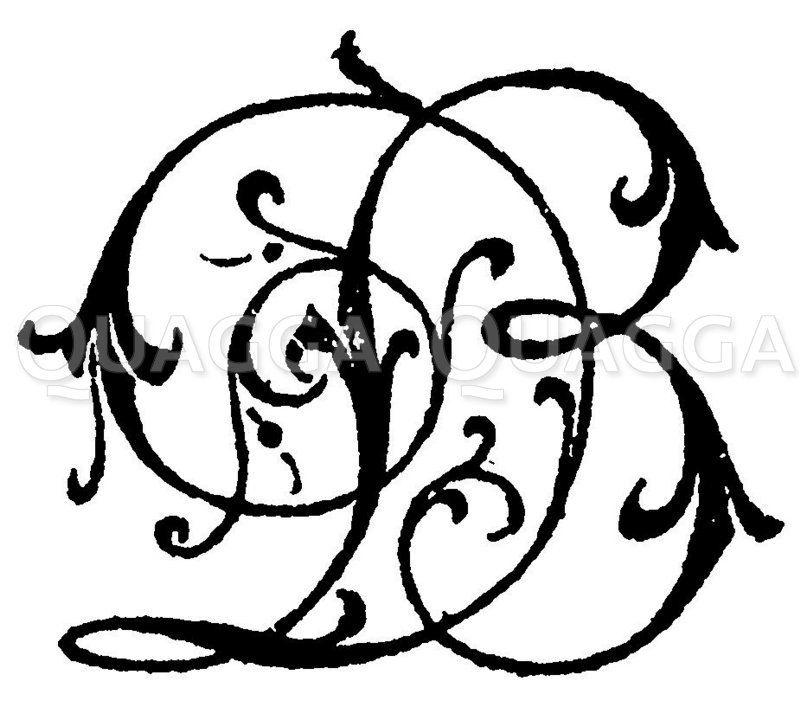 Monogramm DB Zeichnung/Illustration