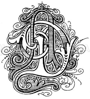 Monogramm AD Zeichnung/Illustration