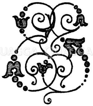 Monogramm ES Zeichnung/Illustration