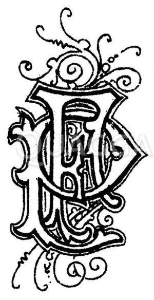 Monogramm PF Zeichnung/Illustration
