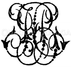 Monogramm HB Zeichnung/Illustration