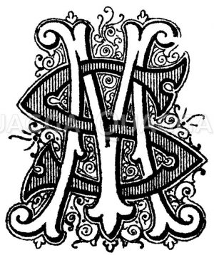 Monogramm SM Zeichnung/Illustration