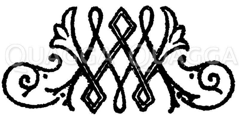 Monogramm MW Zeichnung/Illustration