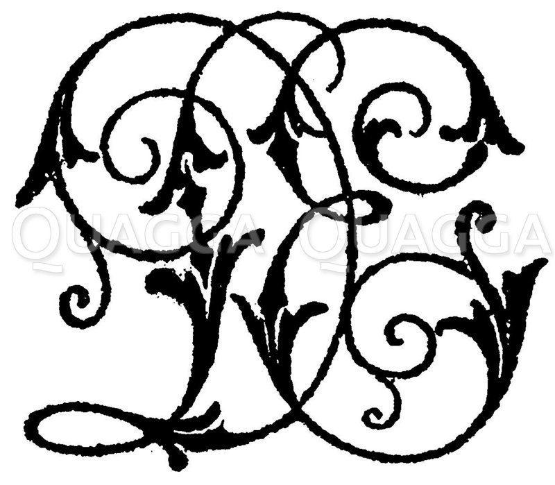 Monogramm DE Zeichnung/Illustration