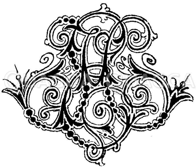 Monogramm EH Zeichnung/Illustration