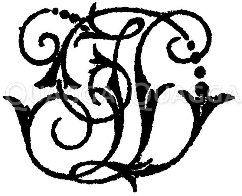 Monogramm JD Zeichnung/Illustration