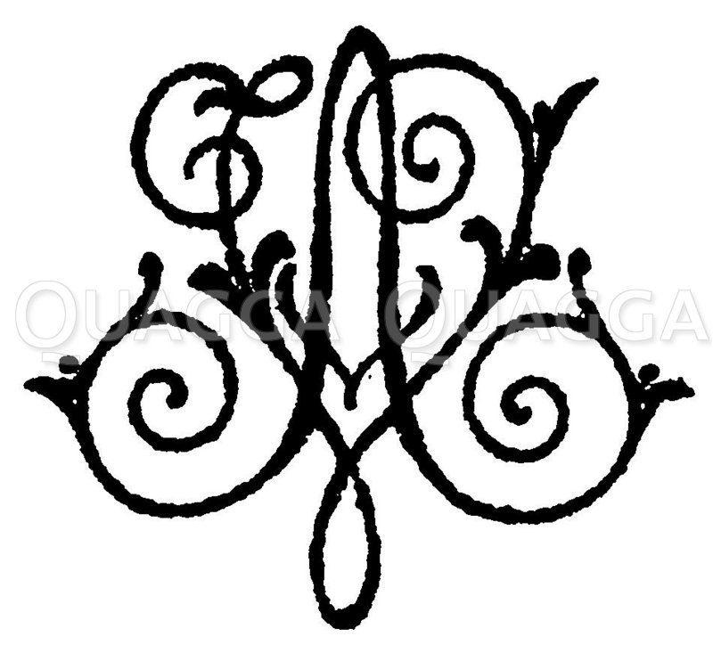 Monogramm AV Zeichnung/Illustration