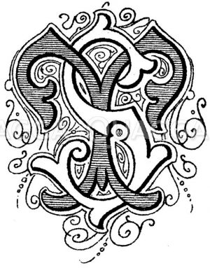 Monogramm ST Zeichnung/Illustration