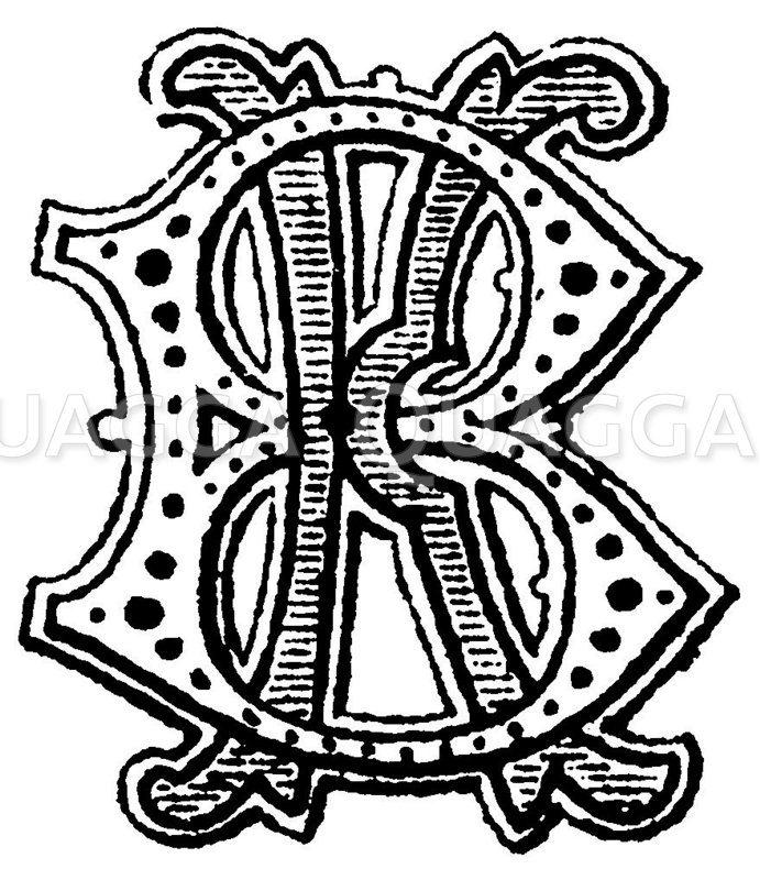 Monogramm KB Zeichnung/Illustration