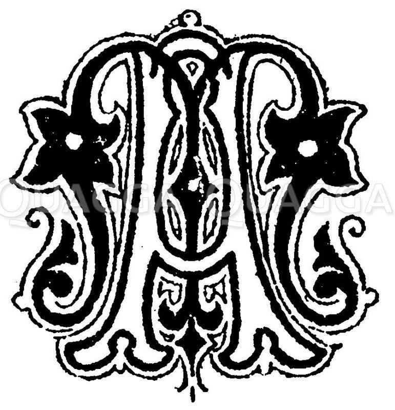 Monogramm AM Zeichnung/Illustration