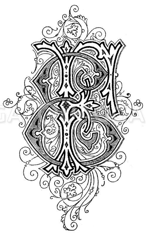 Monogramm EF Zeichnung/Illustration