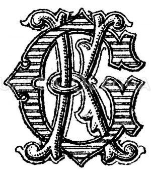 Monogramm KG Zeichnung/Illustration