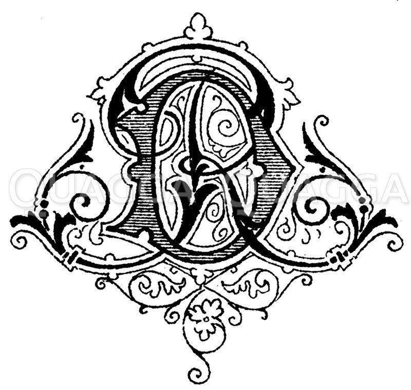 Monogramm DR Zeichnung/Illustration