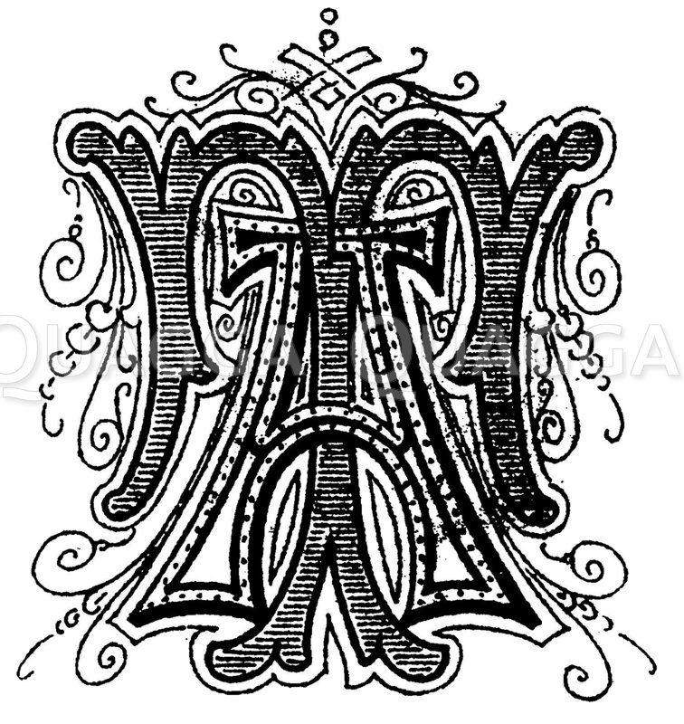Monogramm AT Zeichnung/Illustration