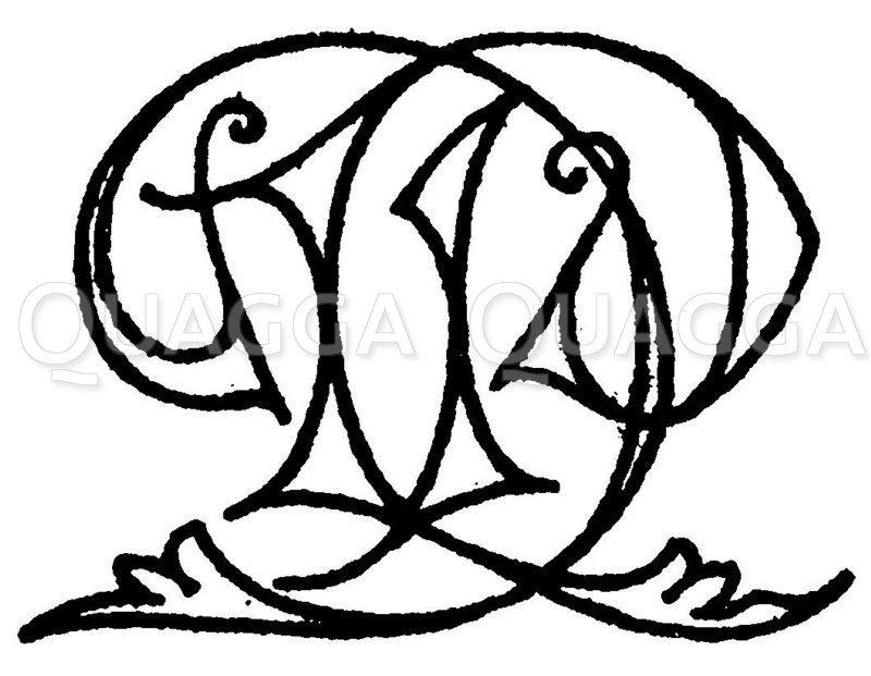 Monogramm DP Zeichnung/Illustration