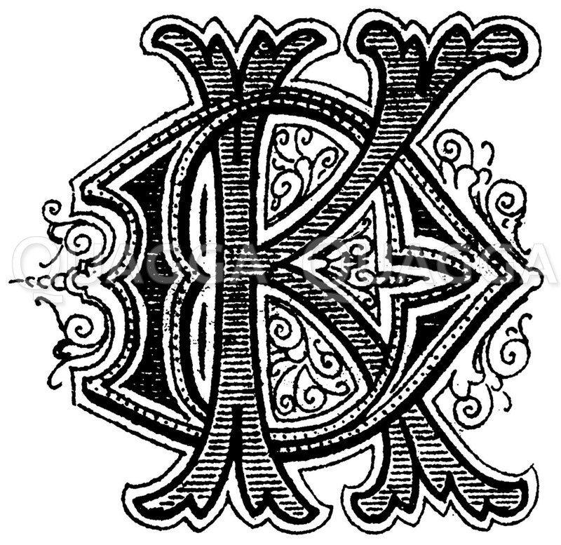 Monogramm KD Zeichnung/Illustration