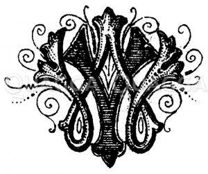 Monogramm VW Zeichnung/Illustration