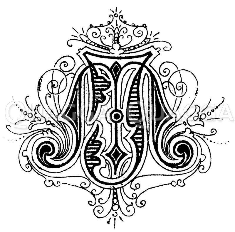 Monogramm JM Zeichnung/Illustration