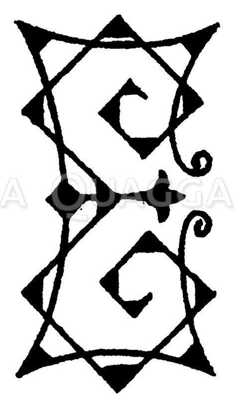 Monogramm EE Zeichnung/Illustration