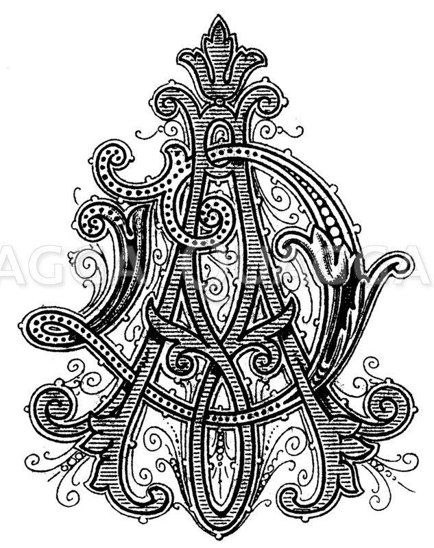 Monogramm AD Zeichnung/Illustration