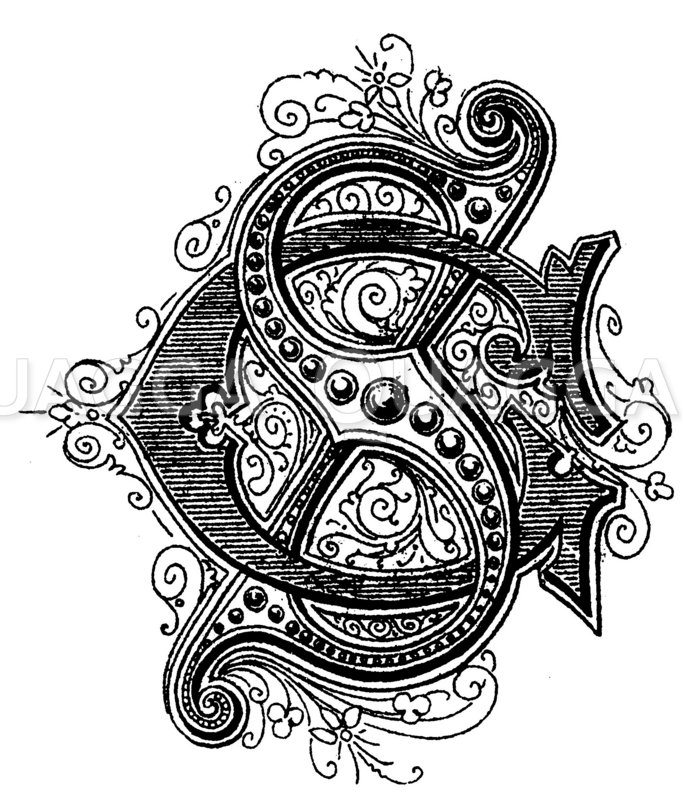 Monogramm CS Zeichnung/Illustration