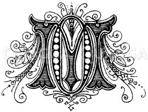 Monogramm OM Zeichnung/Illustration