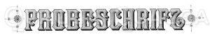 Schriftzug: Probeschrift Zeichnung/Illustration