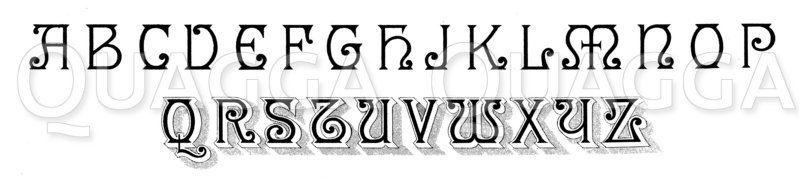 Alphabet: Amerikanische Schrift Zeichnung/Illustration