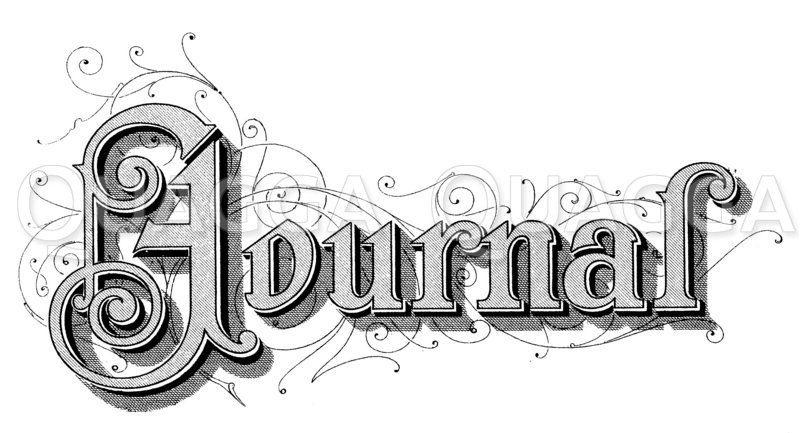 Schriftzug: Journal Zeichnung/Illustration