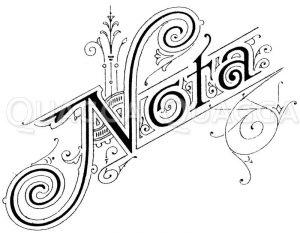 Schriftzug: Nota Zeichnung/Illustration