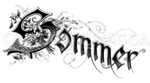 Schriftzug: Sommer Zeichnung/Illustration