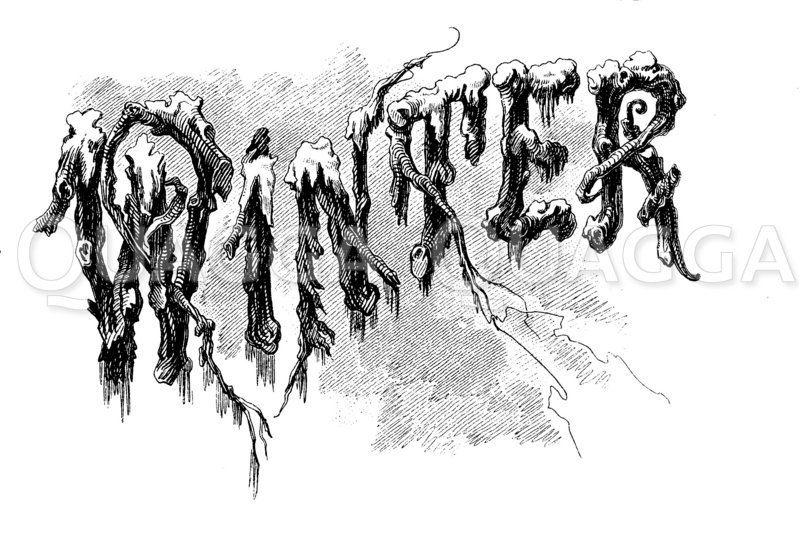 Schriftzug: Winter