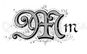 Buchstabe M Zeichnung/Illustration
