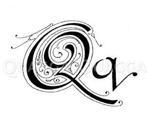 Buchstabe Q Zeichnung/Illustration