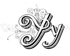 Buchstabe Y Zeichnung/Illustration