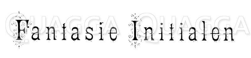 Schriftzug: Fantasie Initialen Zeichnung/Illustration